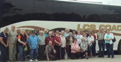 Motor Coach Visitors to the Museum