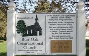 Burr Oak Congregational Church Marker