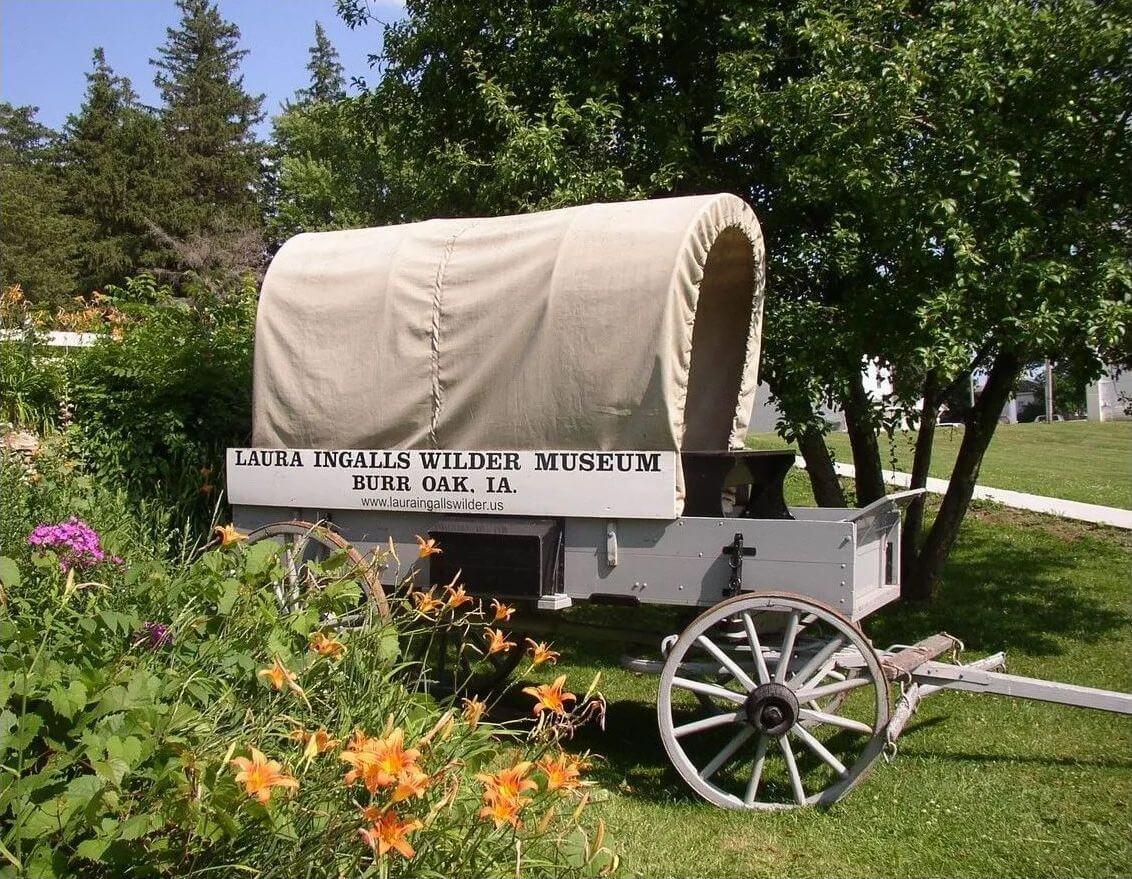 Laura Ingalls Wilder Museum Burr Oak, IA wagon
