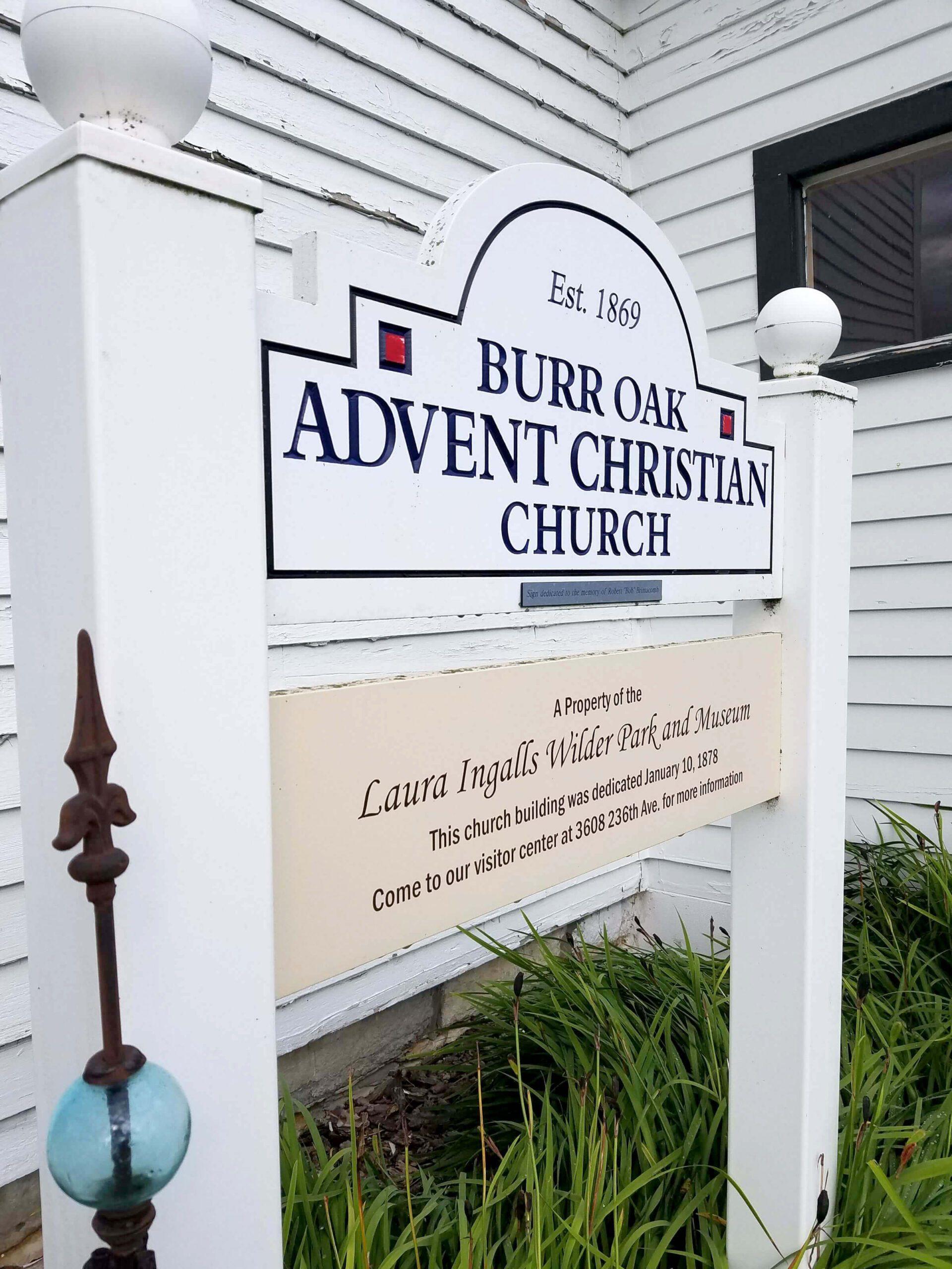 Burr Oak Advent Christian Church Sign