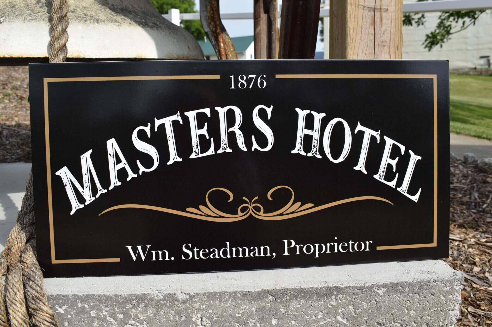 1876 Masters Hotel Wm. Steadman, Proprietor